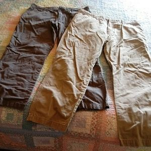 Lot of 2 old navy khakis 36 x 32